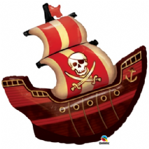 Pirate Ship Large Foil Balloon 1pc